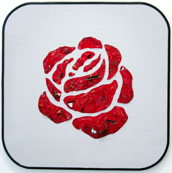Rose-2004-reflector-lens-aluminium-panel-1200x1200x100mm-copy