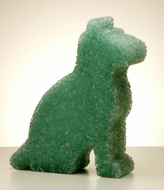 dog-63x47x12cm-toughened-glass-2005-Matt-Calvert